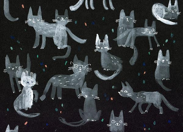 inktober 5 cats