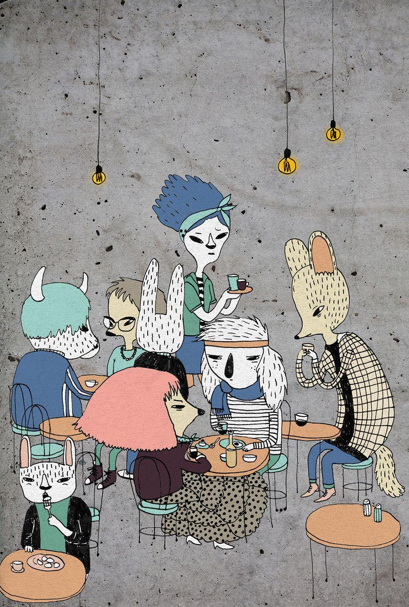 hipster cafe 2016