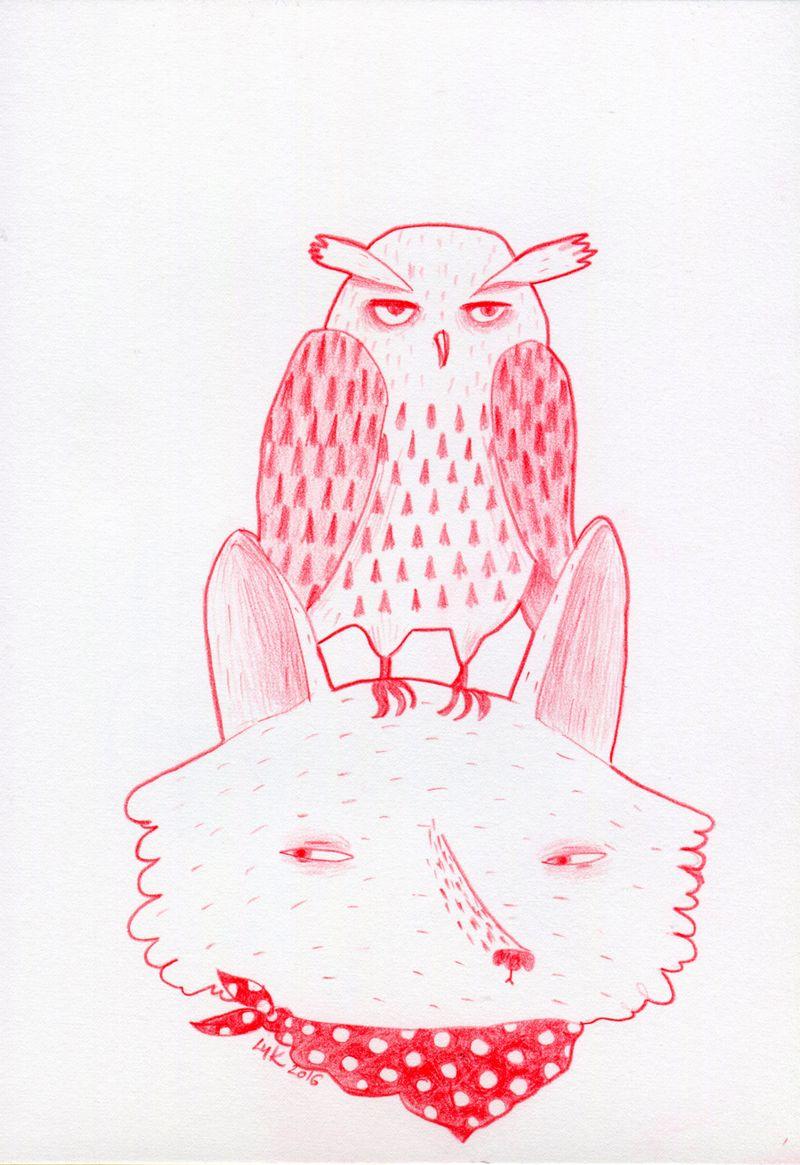 wolf owl 2016